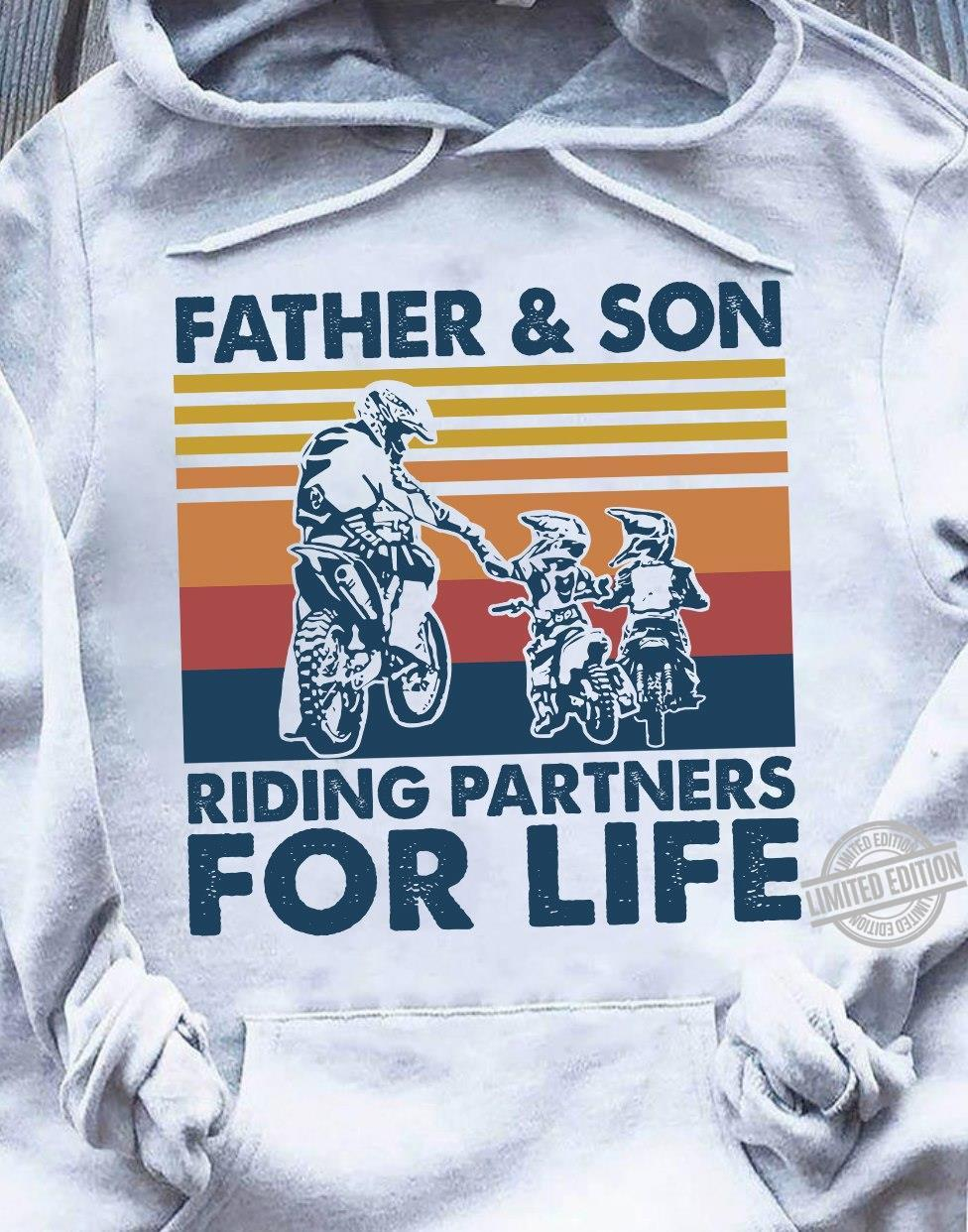 Father & Son Riding Partners For Life Shirt