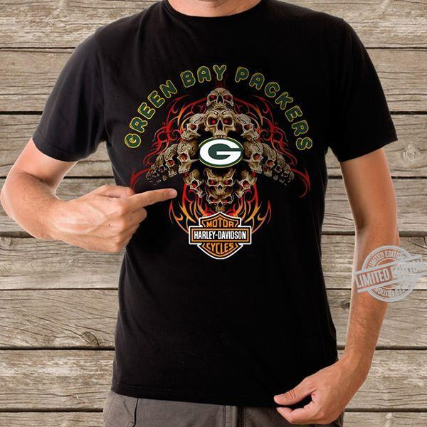 Green Bay Packers Davidson Motorcycles Shirt