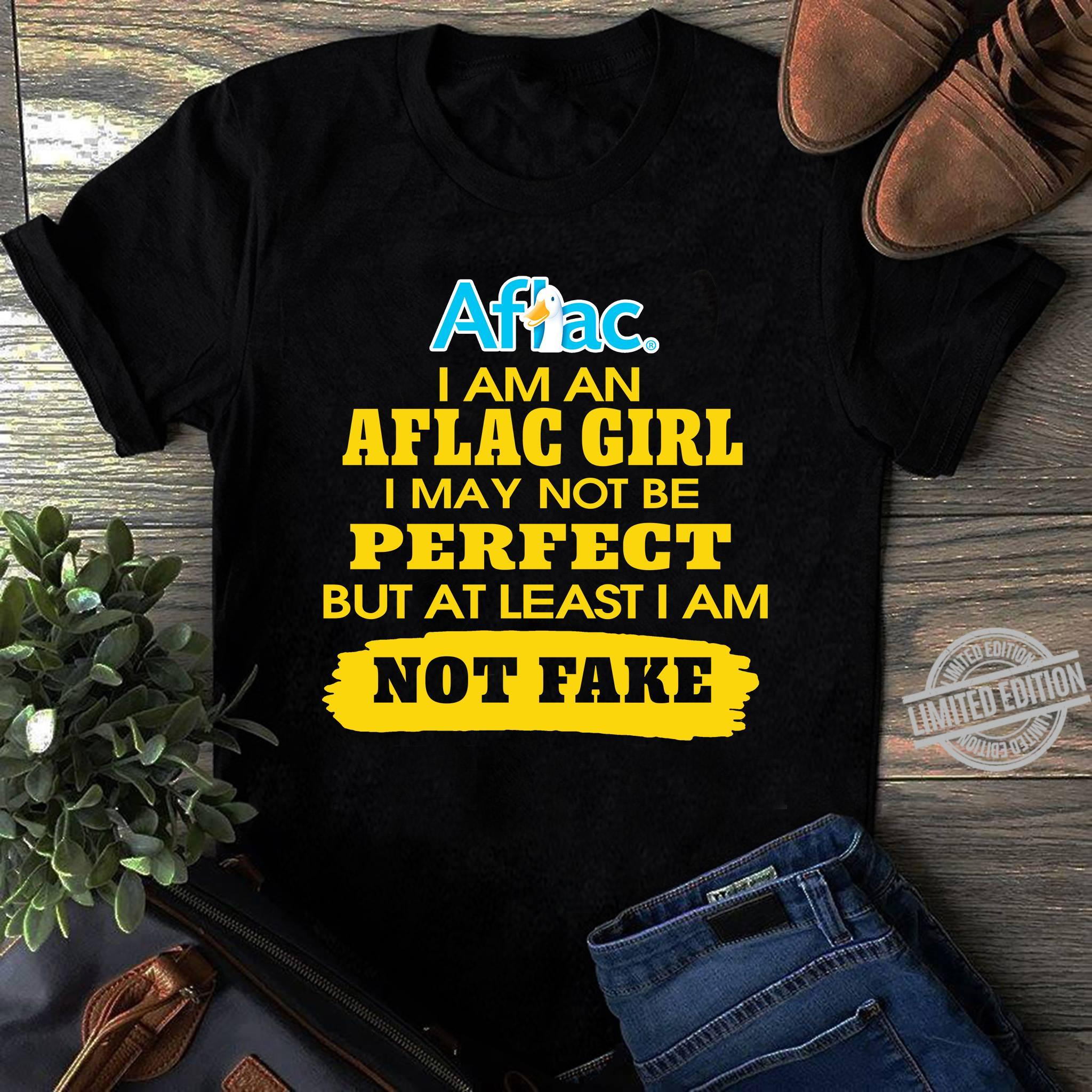 IamAn Aflag Girl I May Not Be Perfect But At Least Iam Not Fake Shirt