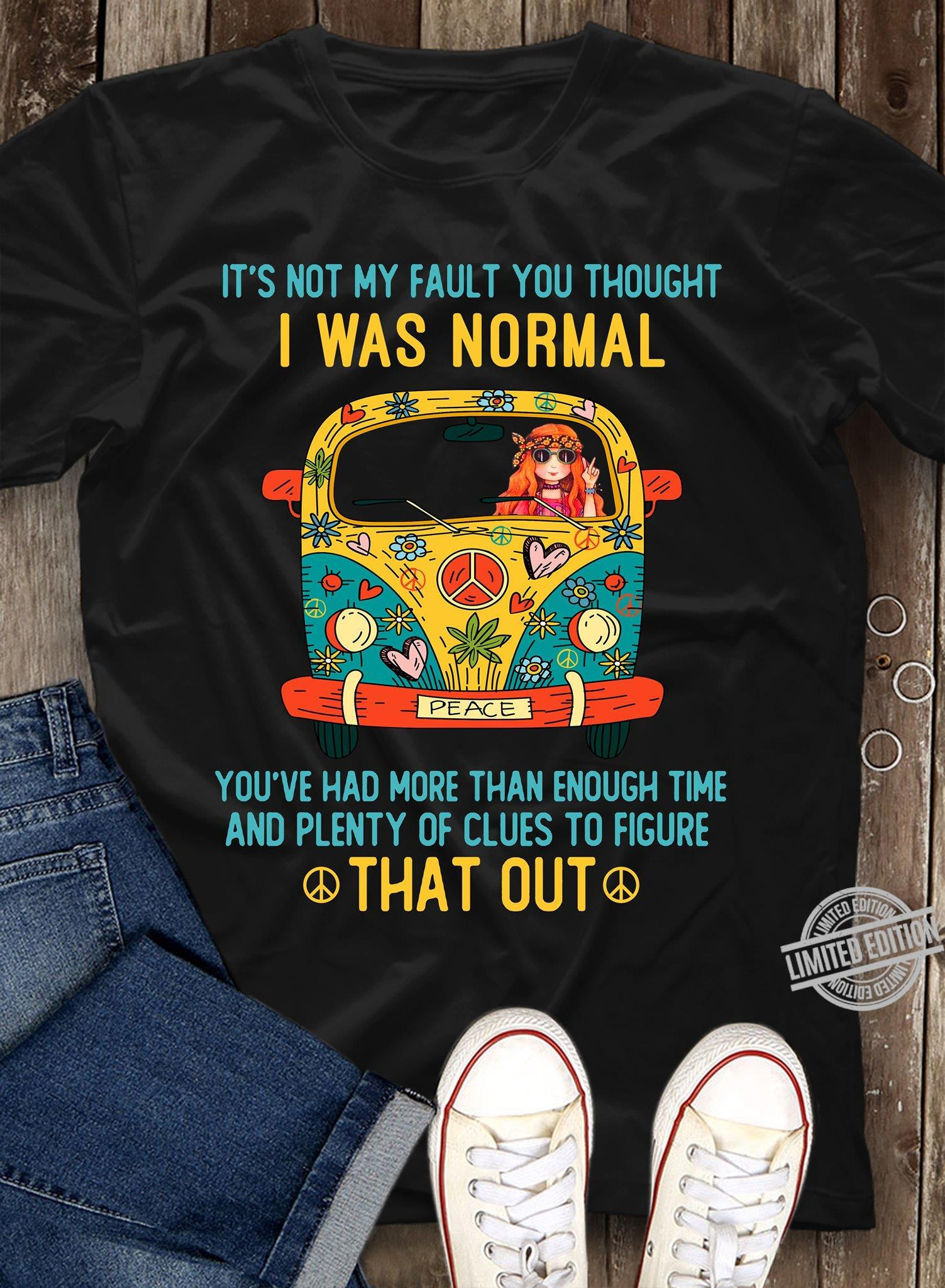 It's Not My Fault You Thought I Was Normal You've Had More Than Enough Time And Plenty Of Clues To Figure That Out Shirt