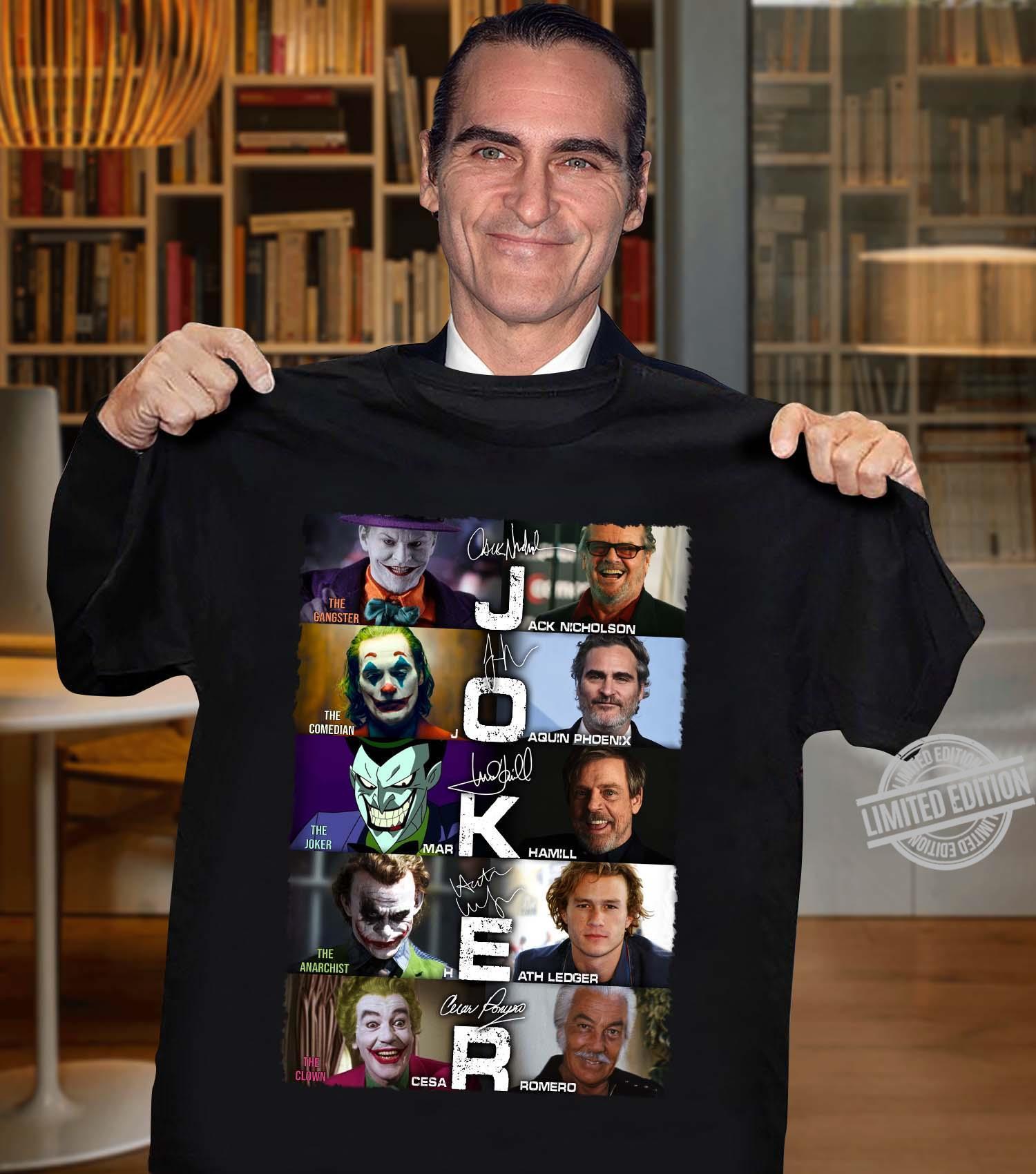 Joker All Version Signature Shirt