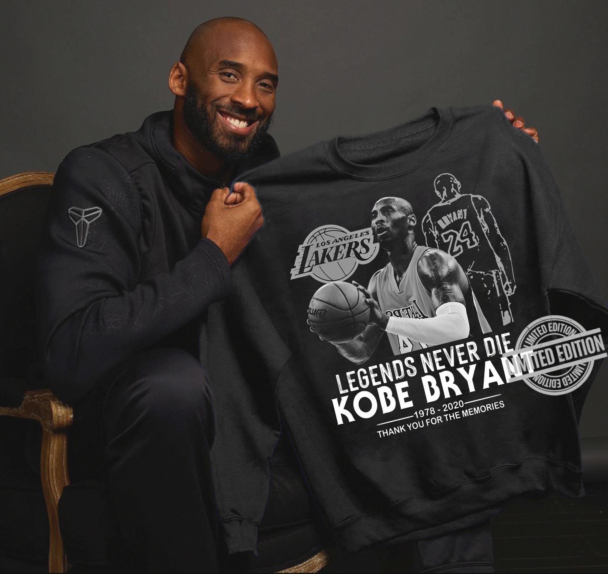 Los Angeles Lakers Legends Never Die Kobe Bryant Shirt