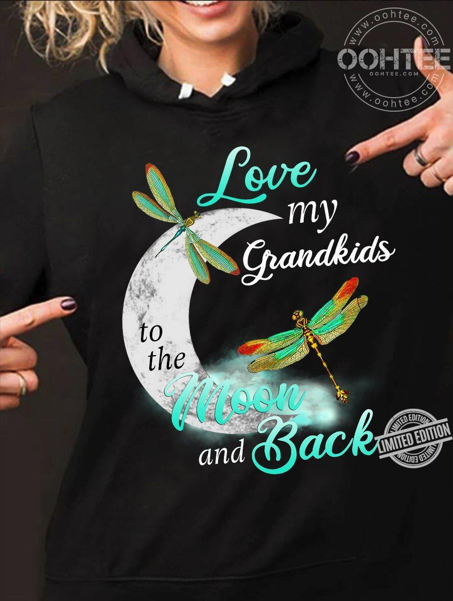 Love My Grandkids To The Moon And Back Shirt